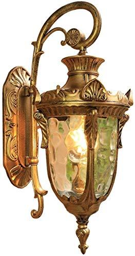 YANQING Duurzame wandlamp buiten wandlamp van Metallu, Stone Pattern Glas, Retro/Vintage buitenlamp voor Patio IP23 A++