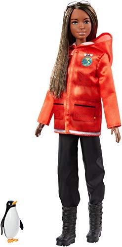 Barbie National Geographic Quiero Ser Bióloga Marina, muñeca con accesorios (Mattel GDM45)