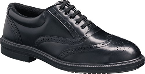 Tuffking 9076 S1P Black Steel Toe Cap Oxford Brogue Executive Safety Work Shoes (9 UK)