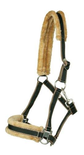 PFIFF 100751-62-Pony - Cabezada para Caballos, Color Negro/marrón, Talla Pony