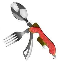 4 IN 1 CAMPINGBESTECK: Bei diesem Campingbesteck Set ist das Allerwichtigste vorhanden – Messer, Löffel, Gabel und Flaschenöffner/Deckelaufhebler HOHE QUALITÄT: Das Besteckset besteht aus Edelstahl und ist somit die perfekte Alternative zu brüchigem ...