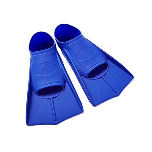 ZAYZ Aletas de Natación Cortas Tamaño de Viaje para Bucear Aletas de Buceo, Cómodo Bolsillo de Pie Completo con Bolsa de Malla (Color : Blue, Size : XL)