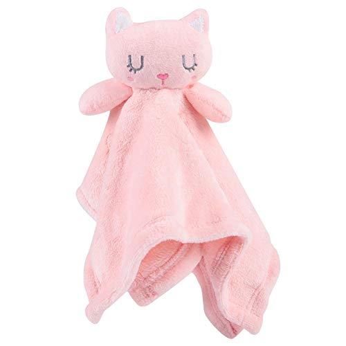 Baby Komfort Sicherheitsdecke Weiches Handtuch Beruhigende Schlafdecke Handtuch für Baby Neugeborenen 0-12 Monate(Rosa)
