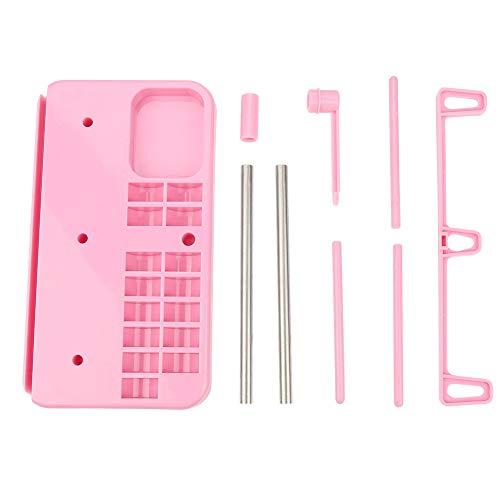 Zetiling draad standaard, 3 kegels borduurwerk draad houder spoel stand roze naaimachine accessoires Winkels 15 Bobbins pinnen en een liniaal te maakt voeden gladder