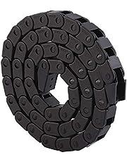 "Sleepketting Kabeldrager, R28 zwart nylon kabel Sleepketting Draaddrager voor 3D printer/CNC routermachine, 1000 mm/40""lang, binnen: 10 x 10 mm, buiten: 14 x 17 mm"