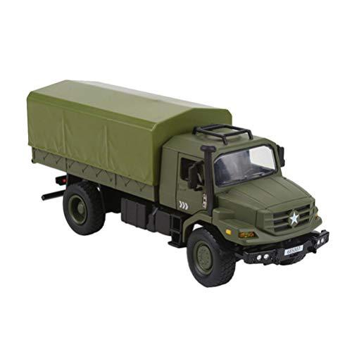 Tomaibaby Modelos de Vehículos Militares Juguetes para Automóviles Aleación de Metal Camión del Ejército Coche Coche para Niños Pequeños Niños Niños