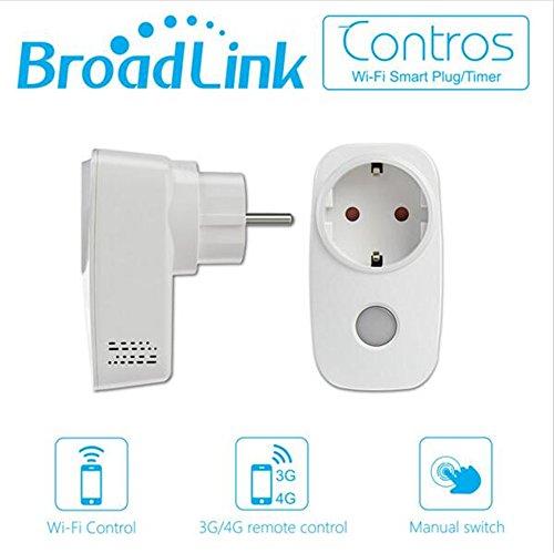 Broadlink Sp3 Presa Intelligente Wi-Fi con Controllo Remoto,Controllo Funzione di Temporizzazione Interruttore Presa Elettrica ,Protezione da Sovraccarico,senza Fili per Casa e Ufficio Controllato da