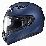 HJC Helmets Unisex-Adult Full Face Power Sports Helmets (Semi-Flat Metallic Blue, Medium)