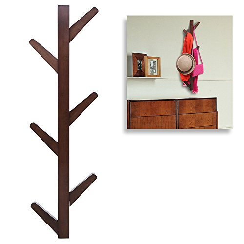 yazi Creative Retro Tree Style Wall Mounted Hanger Coat Hat Rack Hook Solid Home Bedroom Art Decoration