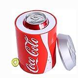 LHY Refrigerador de Coche portátil, Lata de Coca-Cola Mini refrigerador USB, Tanque de enfriamiento de Enfriador de Bebidas para Oficina, Dormitorio, Escuela,Rojo