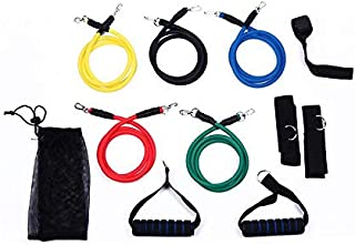 Resistance Bands Fitness Latex 11pcs/set Fitness Equipments Exercise Pilates Tubes Pull Rope Expanders Training Practical