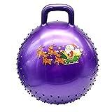 Haibinsuo ema de Navidad Bola Que rebota la manija del Punto de Masaje Juego de Bolas de Yoga de PVC Anti-explosión Tema Inflable Navidad Manija Juego de Bolas hinchables para la a