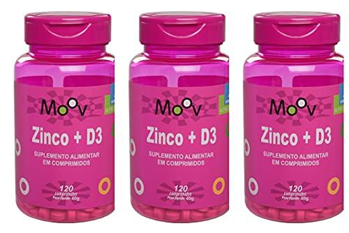 3 Zinco + Vitamina D p/ Saúde Mental e Imunidade 360 Comprimidos