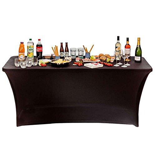 CROSS OUTDOOR 09298 - Housse Nappe pour Table Pliante - 180 cm - Noir