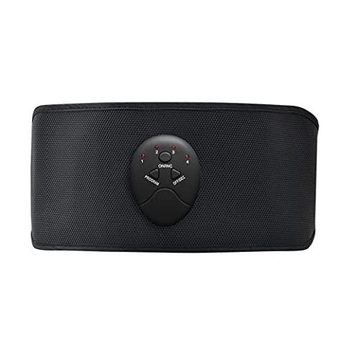 AtheMeet Cinturón Abdominal eléctrico Masaje Abdominal Inteligente Adelgazamiento de cinturón de Masaje Dispositivo de Fitness Medidor de pérdida de Peso Corporal para Espalda Baja