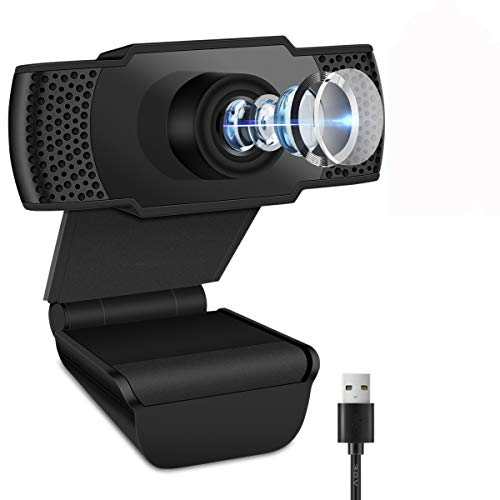 Webcam with Microphone,Full 1080P HD PC Auto Focus Streaming Webcam Compatible with Most of Device & App,Plug and Play Webcam for Conference, Gaming, Online Classes and Laptop/Desktop Mac