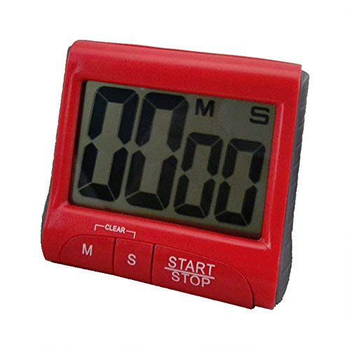 Best Quality Large Lcd Digital Timer Count Down Up Clock Loud Alarm Red, Kitchen Timer Clock - Clock Timer, Large Sports Timer, Large Wall Digital Timer, Countdown Clock, Digital Count Down Timer