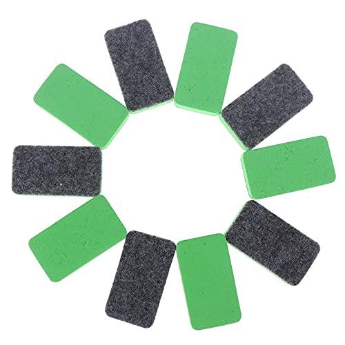 Borrador magnético 10 unids Mini Whiteboard Eraser Seco Bore Board Board Kid Marker School Office Accesorios Removedor de manchas (Color : Green)