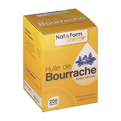Nat & Form - Huile De Bourrache 200 Capsules Nat&form