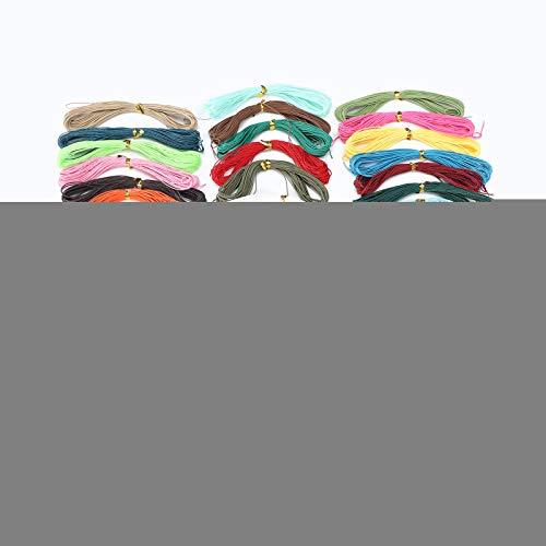 Hilo encerado, Hilo de artesanía artificial resistente al desgaste, Hilo de bricolaje, para collar, pulseras, collares, pulsera