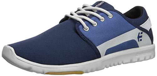 Etnies Scout, Chaussures de Skateboard Homme, Bleu Navy Gold, 45.5 EU