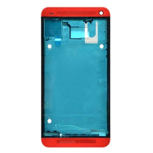HTC Spare Piastra Frontale for Cornice LCD for HTC One M7 / 801e (Nero) HTC Spare (Colore : Red)