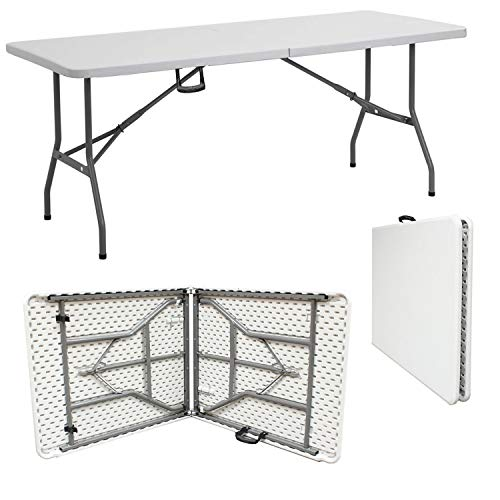 Denny International Trestle Table Indoor Outdoor Garden Catering Heavy Duty Folding Table for Picnic Party Dinner (5ft)