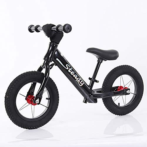 XHJZ Niño Bicicleta de Equilibrio, de 12 Pulgadas Ruedas, Principiante Formación del Jinete, niños Bicicleta de Entrenamiento con Altura Ajustable del Asiento y Manillar,C