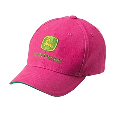 John Deere Kinder Cap Pink Mädchen mit Grünem Akzent im Schirm
