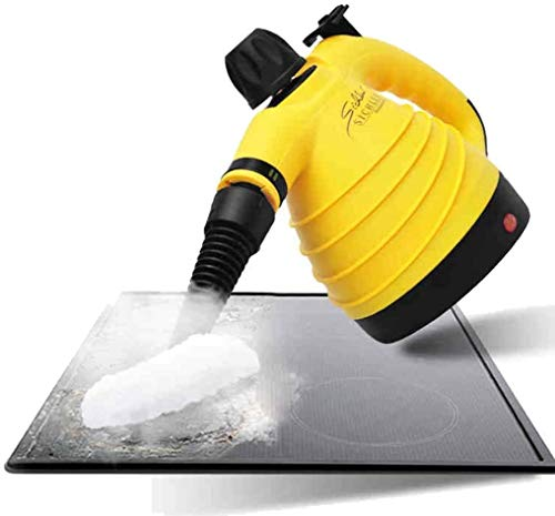 JIALI Limpiador de vapor de mano 3.5 multiusos para alfombras de alta presión, sin productos químicos, 9 piezas – elimina manchas, cortinas, asientos de coche, suelos, limpieza de ventanas