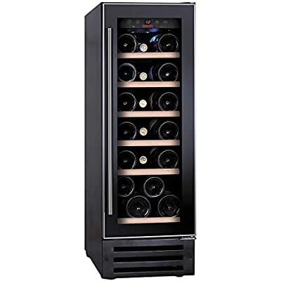 Baumatic BWC305SS/2 Built In Wine Cooler - Black / Stainless Steel - B Rated from