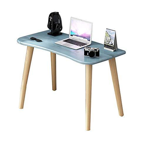 KAISIMYS Mesa de Madera nórdica para computadora, Escritorio de Oficina sólido Simple y Moderno, Escritorio Multifuncional para el hogar, Escritorio de computadora pequeño en el Dormitorio, Azul, 100