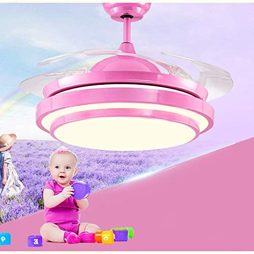 Hanglamp kroonluchter lamp ventilator plafond LED lichtbron afstandsbediening ABS ventilatorvleugel Art Princess plafondlamp voor babykamer.