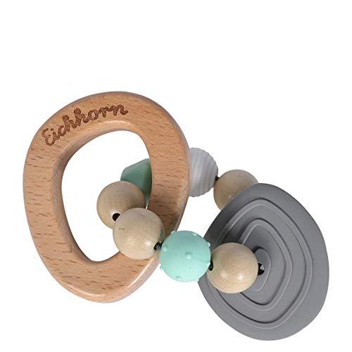 Eichhorn 100005712 Baby Pure Beiring aus FSC 100 Prozent zertifiziertem Buchenholz, nachhaltiges Holzspielzeug, mit Beielement, Zahnungshilfe, fr Kinder ab den ersten Lebensmonaten geeignet