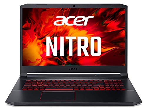 Acer Nitro 5 (AN517-52-50QY) 43,9 cm (17,3 Zoll Full-HD IPS matt) Gaming Laptop (Intel Core i5-10300H, 8 GB DDR4 RAM, 512 GB PCIe SSD, NVIDIA GeForce GTX 1650, Win 10 Home) schwarz