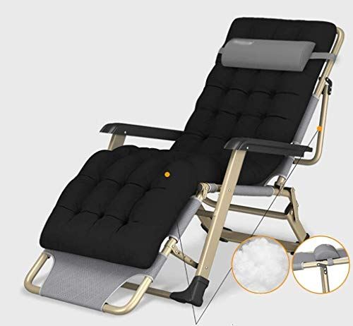 JIUYUE Zero Gravity Lounge Chair Adjustable Recliner Outdoor Free Folding Reclining Recliner Deck Chair (Color : Gray, Size : A)