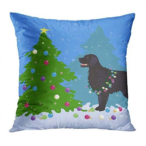 huatongxin Fundas de almohada con revestimiento plano negro para sofá, cama, decoración del hogar, 45,7 x 45,7 cm