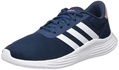 adidas Lite Racer 2.0 Sneaker, Crew Navy/Cloud White/Clear Lilac, 34 EU
