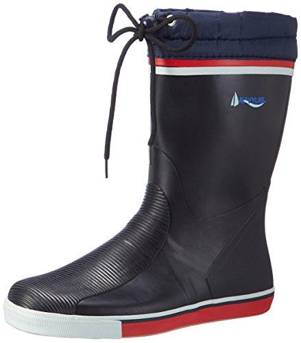 Navyline damskie męskie buty jachtowe, półwysoka cholewka ze sznurowaniem, niebieski - granatowy - 39 EU
