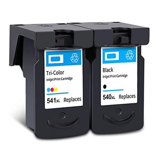 Cartucho de tinta PG-540XL CL-541XL, repuesto de alto rendimiento para impresora Canon Pixma MG2250, MG3150, MX375, MX395, MX515, TS5150, TS5151, negro y tricolor, 1 negro, 1 tricolor