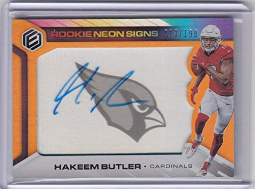 2019 Panini Elements Neon Signs #RNS-HB Hakeem Butler #RNS-HB RC Rookie Auto 13/199 Cardinals