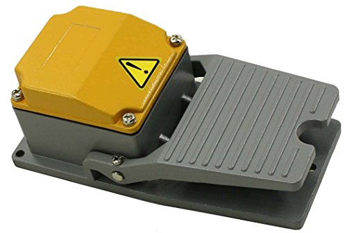 Heavy Duty Industrial Foot Switch - Cast Aluminum Foot Switch 15A SPDT Electric Pedal Momentary 5 Year Warranty