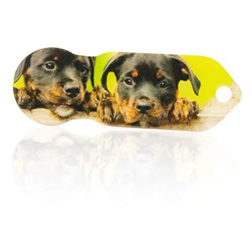Einkaufswagenlöser Code24 Hundewelpen, Praktischer Einkaufschip & Schlüsselanhänger / Motiv: Hundebabys, inkl. Schlüsselfundservice, Key-Finder