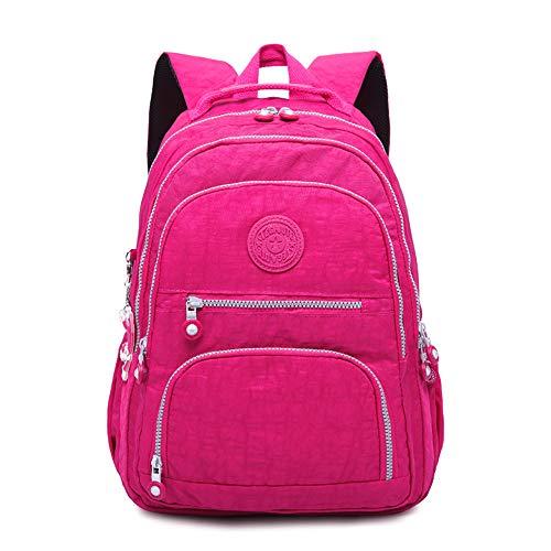 Gurscour Rucksack Backpack für Frauen,Damen Schultasche Große Leichte Nylon Wasserdichte Multi-Taschen Uni Freizeit Daypack Tagesrucksack Fit 16.5