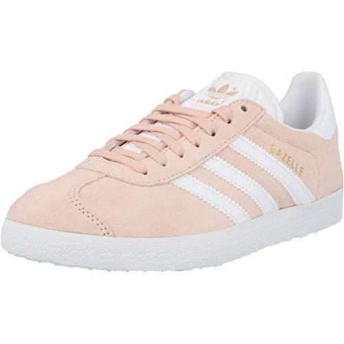 adidas Gazelle, Zapatillas de Deporte Unisex Adulto, Vapour Pink/White/Gold Metalic, 45 1/3 EU