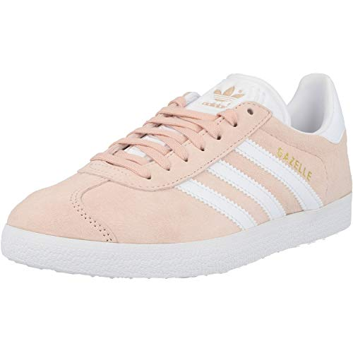 adidas Gazelle, Zapatillas de Deporte Unisex Adulto, Vapour Pink/White/Gold Metalic, 37 1/3 EU