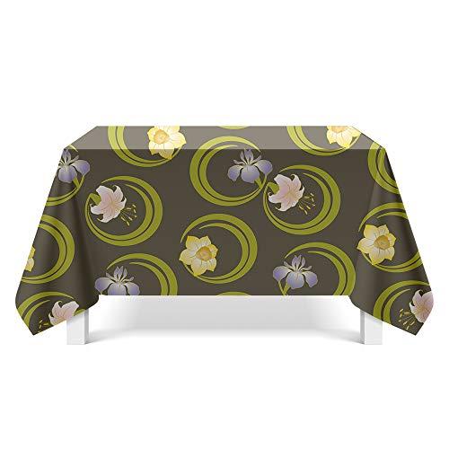 DREAMING-Mantel De Arte Con Textura Impresa Mantel Para El Hogar Gabinete De Tv Mantel De Mesa De Café Mantel De Mesa Redonda 140cm * 220cm