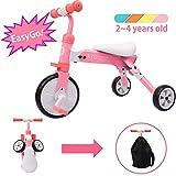 XJD Vélo Draisienne Tricycle pour Enfants de 2-4 Ans 2 en 1 Premier Vélo d'Entraînement d'Équilibre Véhicule avec Pédale...