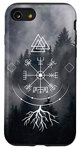 iPhone SE (2020) / 7 / 8 Vegvisir viking compass of Norse Mythology with runes Case