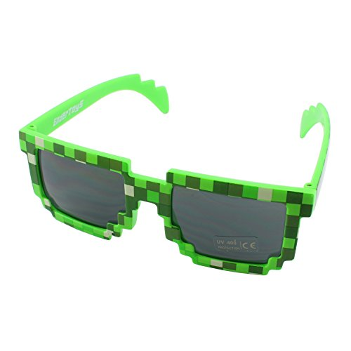 8-Bit Retro Juego Pixel Gafas de Sol - Color: Verde by EnderToys
